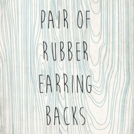 Soft Rubber Earring Backs
