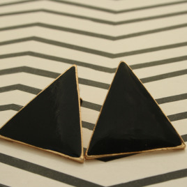 Black Triangle Earrings