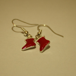 Red Stocking Earrings