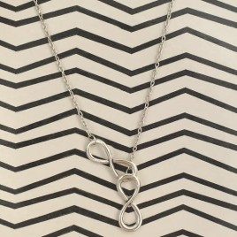Double Infinity Necklace (Silver)