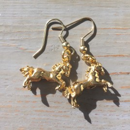 Stay Gold Pony Earrings