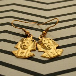 Pharoah gold earrings