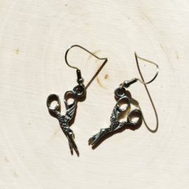sewing scissor earrings