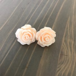 resin flower peach roses