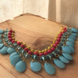Summer Sun Beaded Statement Necklace