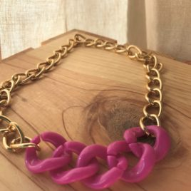 Mixed Chain Necklace (Pink)