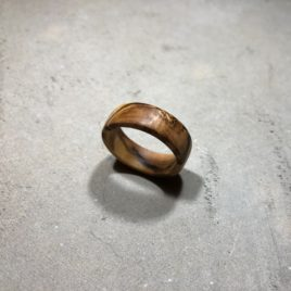 Reclaimed Olive Wood Ring (Custom Size)