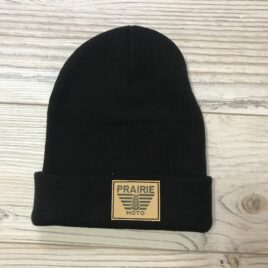 Prairie Moto Toque in Black