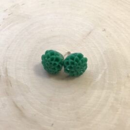 Emerald Dahlia Earrings