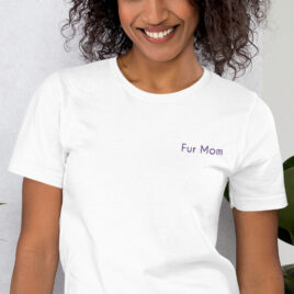 Fur Mom Embroidered Shirt in Black or White