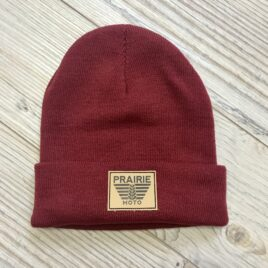 Prairie Moto Toque in Raspberry