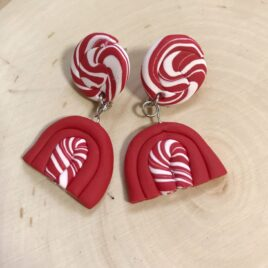Candy Cane Inspired Statement Earrings