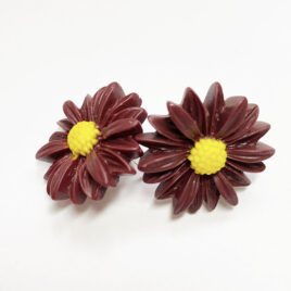 Large Fall Mum Earrings