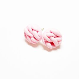 Sweater Weather Earrings in Soft Pink (med)