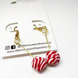 Peppermint Statement Earrings